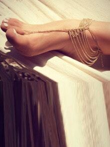 Gold Layered Foot Chain Set