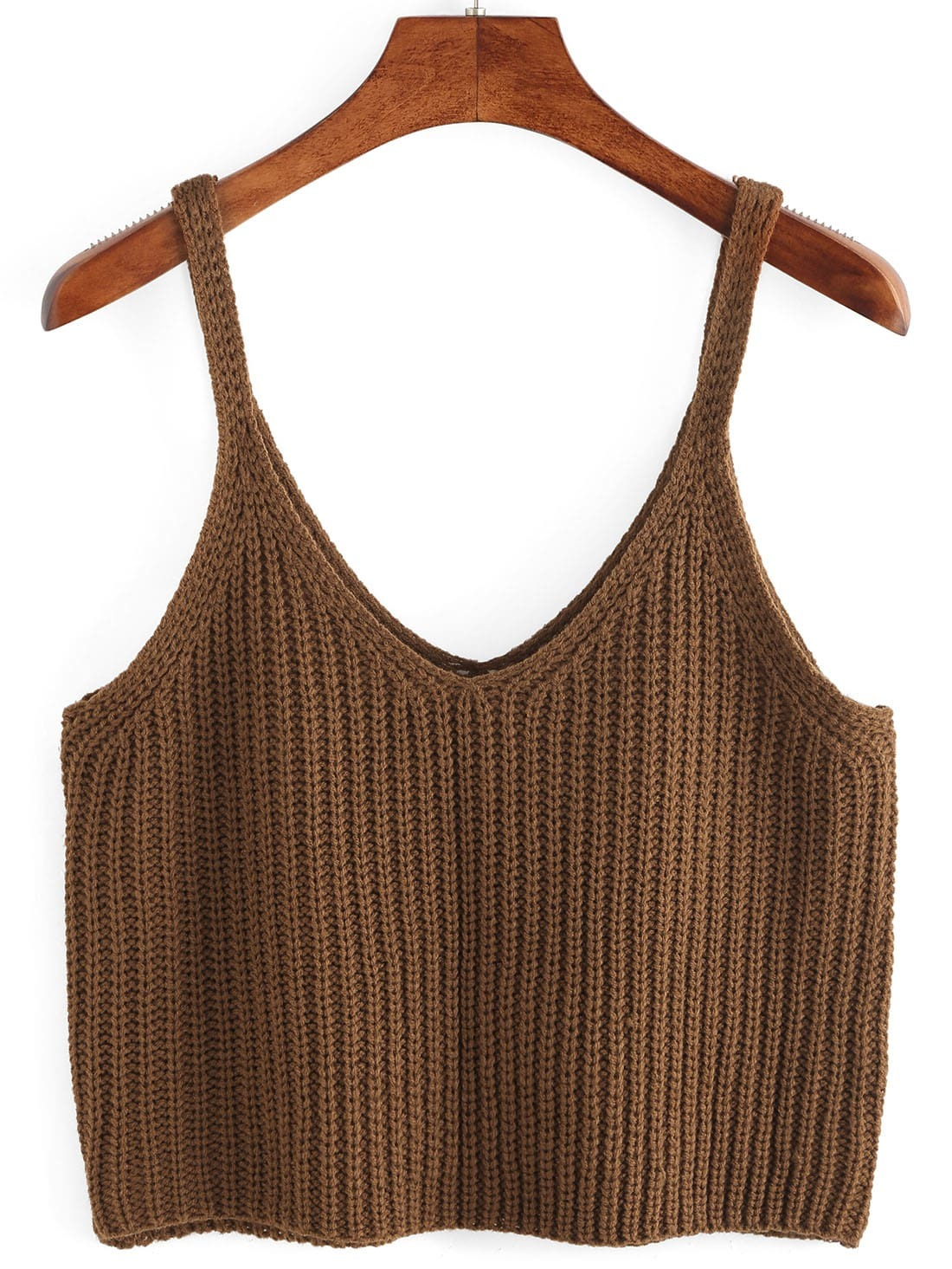 Knitted Crop Tank Top RVES160418108