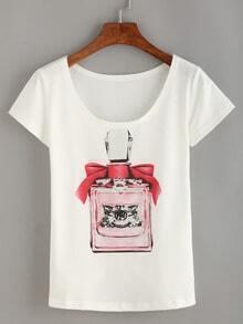 Perfume Bottle Print T-shirt