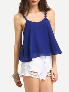 Lace Tape Strap Swing Cami Top