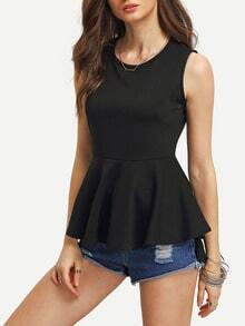 High-Low Peplum Tank Top