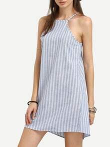 Striped Double Racer Cami Dress