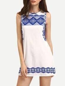 Geometric Print Tank Dress