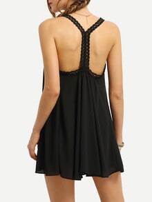 Lace Racerback Chiffon Dress