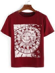 Sun & Moon Print T-shirt