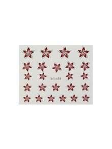 Red Flower Nail Sticker