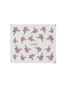 Pink Flower Nail Sticker
