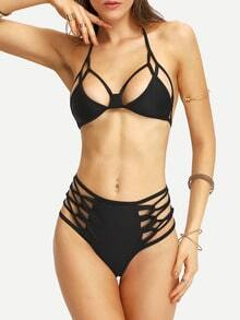 Bikini halter cut out