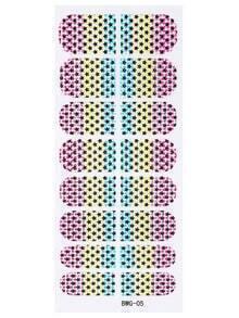 Multicolor Star And Spot Rhinestone Nail Sticker