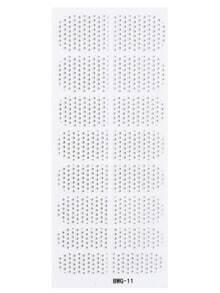 Black Vertical Bead Striped Rhinestone Nail Sticker