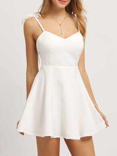 Embroidered Angel Wing Embellished Cami Dress