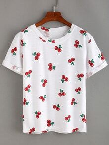 Allover Cherry Print T-shirt