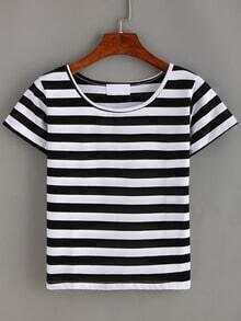 Basic Striped T-shirt - Black