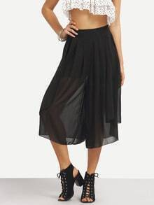 Wide Leg Layered Chiffon Pants