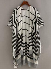Geometric Print Cotton Kimono