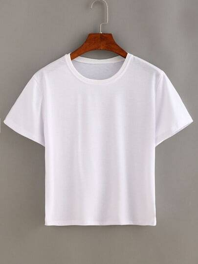 Plain White Short Sleeve T-shirt