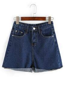 Rolled Hem Wide Leg Shorts