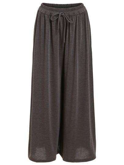 Wide Leg Jersey Pants