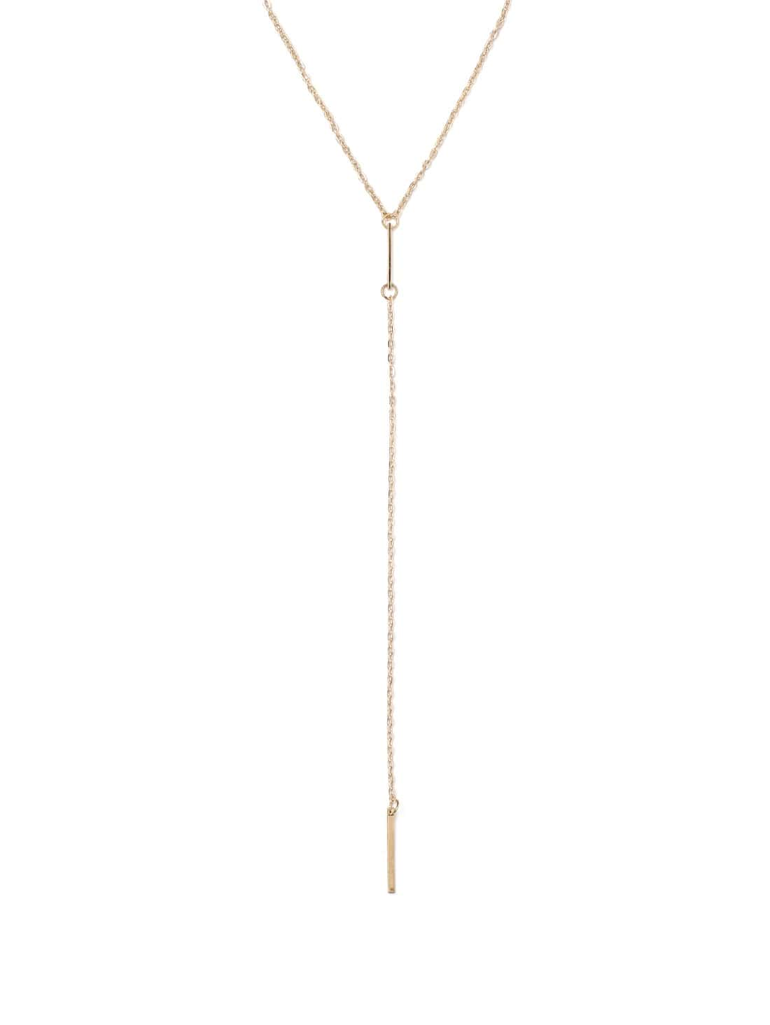 Фото Gold Geomectric Linear Minimalist Necklace. Купить с доставкой