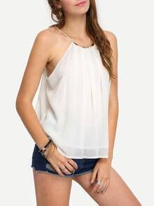 Gold Plate Racer Neck Cami Top