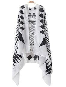 Black White Geometric Print Scarve