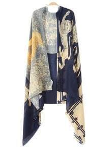 Multicolor Lion Angel Print Scarve