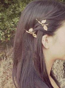 épingle à cheveux motif feuille