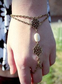 Beaded Cutout Hand Chain