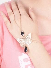 Catena di mano con cut-out a farfalla