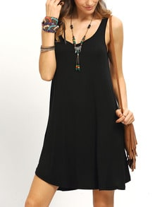 Scoop Neck Swing Tank Dress
