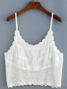 Eyelet Crochet Cami Top
