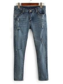Frayed Skinny Jeans