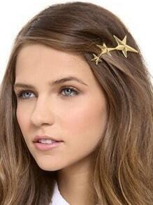 Gold Plated Star Shape Hair Clips