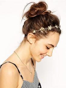 Beautiful Pearl Flower Shape Hair Band