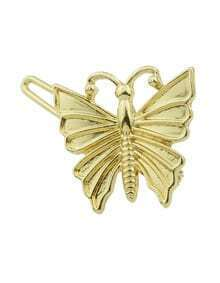 Gold Plated Butterfly Hair Clips