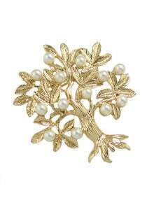 Pearl Flower Shape Brooch
