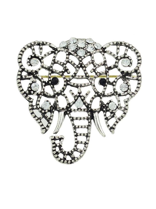 Фото Silver Plated Cute Elephant Shape Brooch. Купить с доставкой