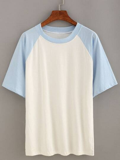 Blue Short Sleeve Raglan T-shirt