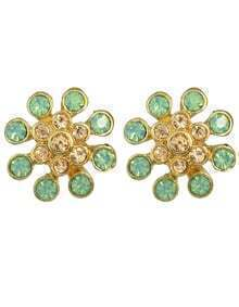 Rhinestone Small Flower Stud Earrings