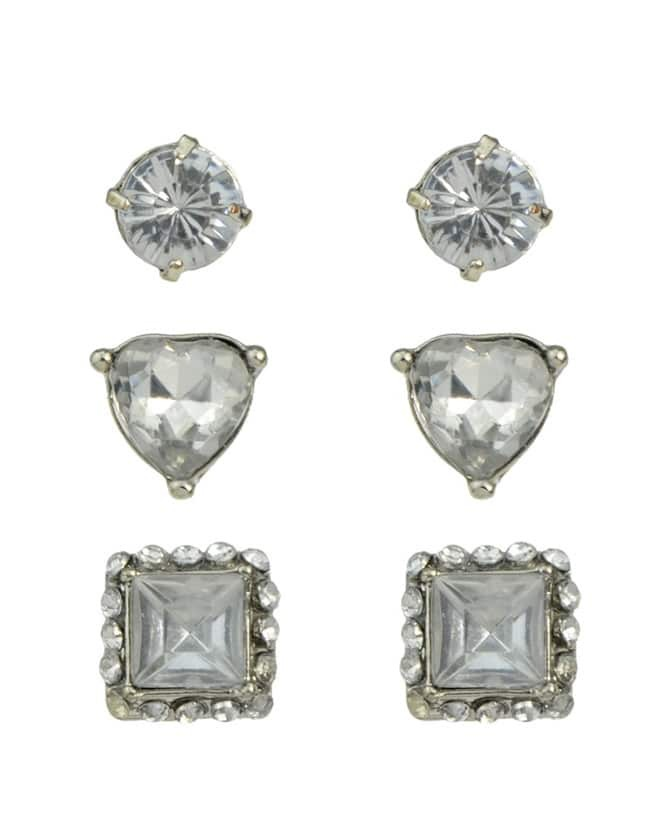 Фото Rhinestone Small Stud Earrings Set. Купить с доставкой