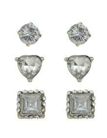 Rhinestone Small Stud Earrings Set