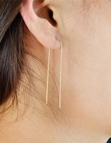 Gold Long Earrings for Women