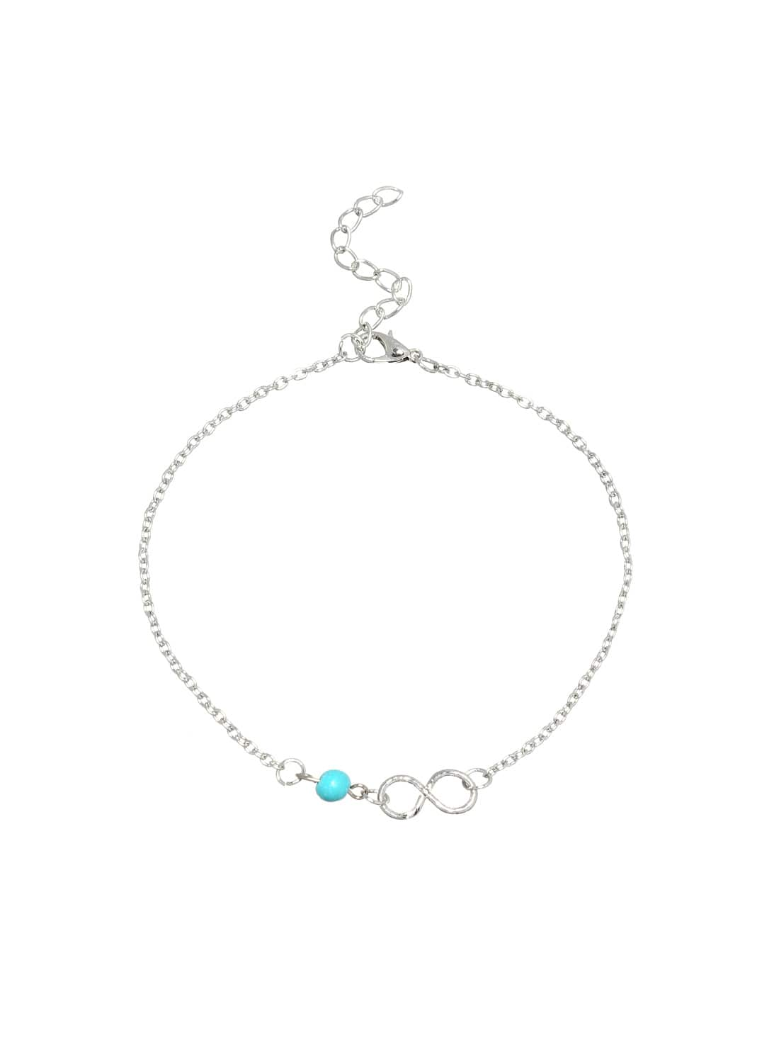 Image of Beaded Infinity Symbol Anklet