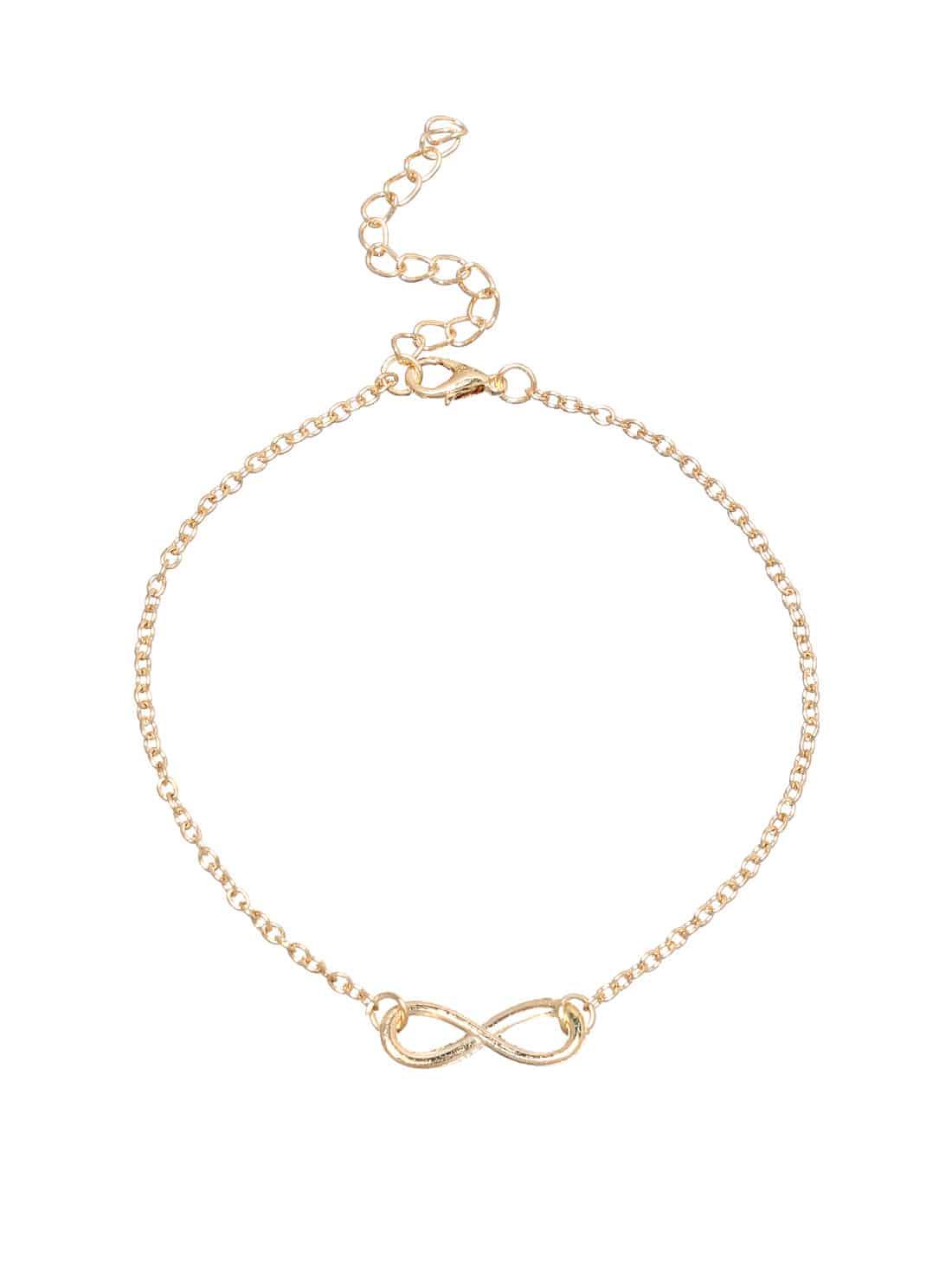 Infinity Symbol Anklet - Gold
