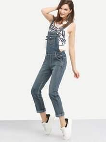 Flap Pocket Bib Overall Jeans