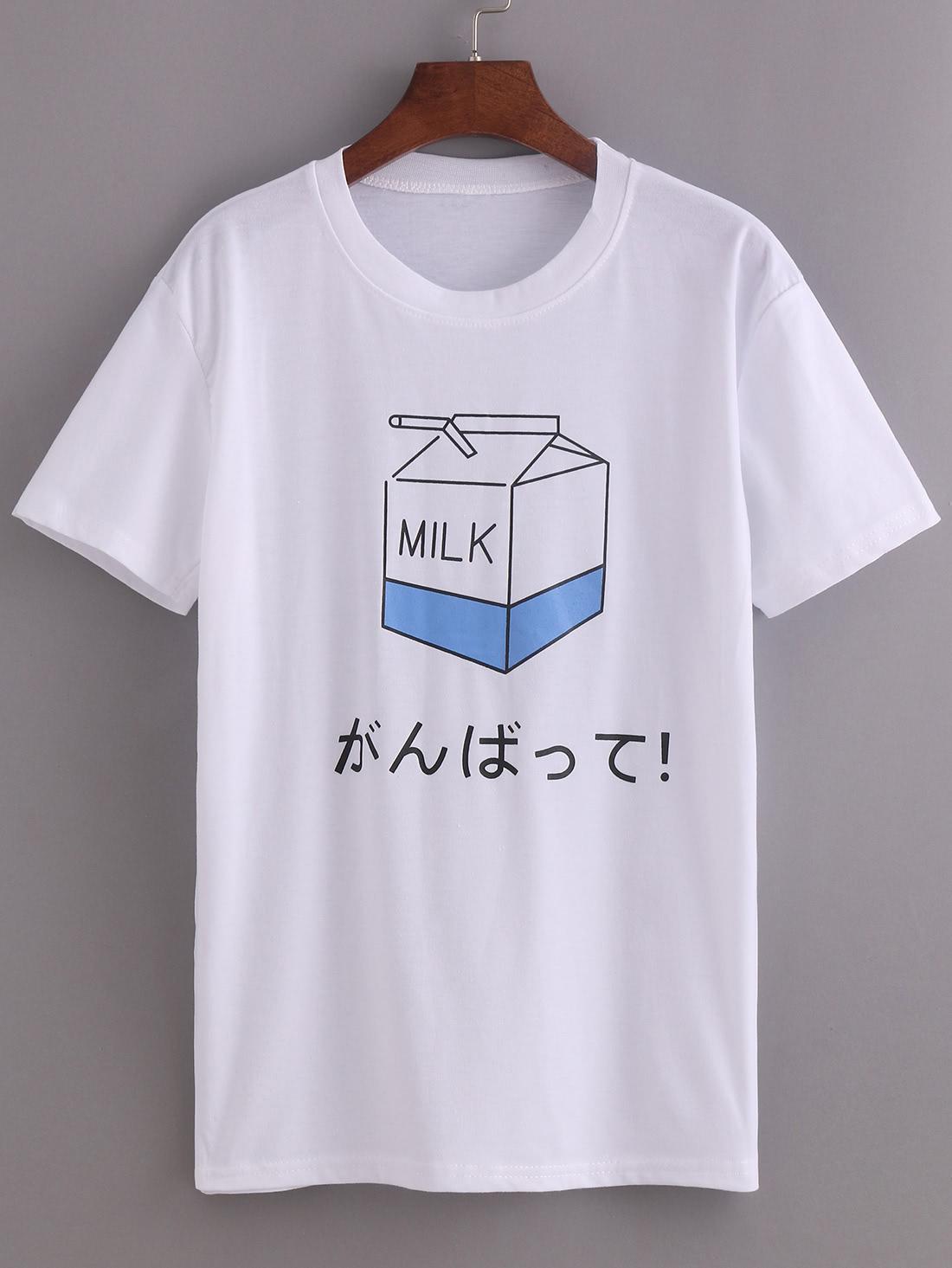 Фото Comic Milk Box Print T-shirt. Купить с доставкой
