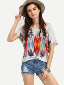 Multicolor Geometric Print T-shirt