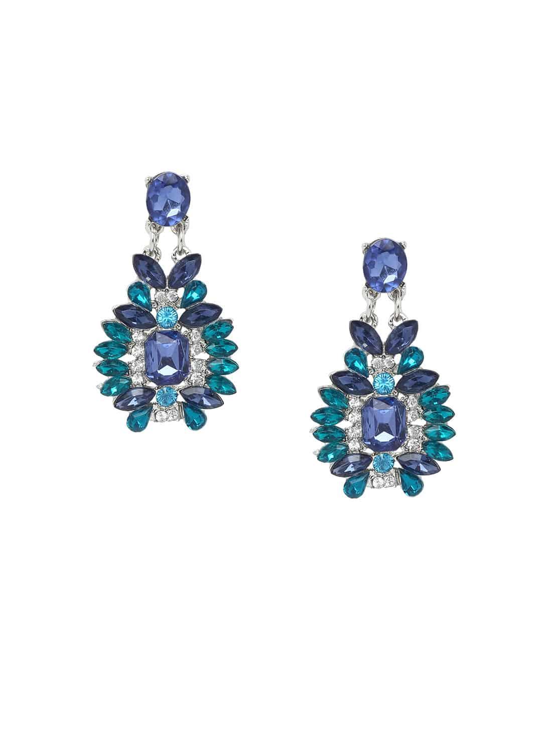 Rhinestone Drop Earrings contrast rhinestone drop earrings