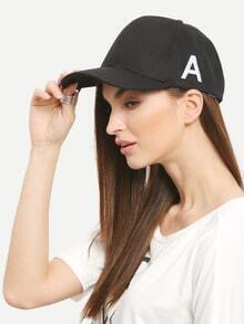 Letter Embroidered Baseball Cap