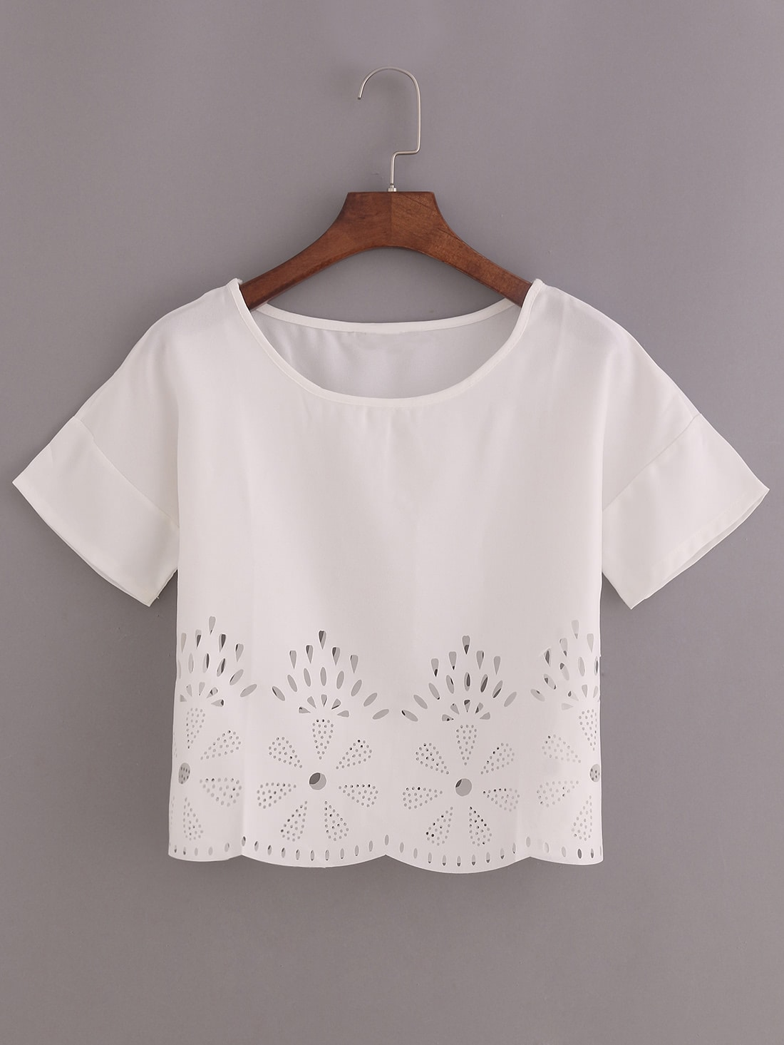 Deals Laser-Cut Loose Fit Top Before Special Offer Ends